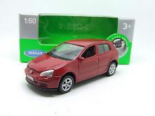 VW VOLKSWAGEN GOLF V IN RED 5 DOOR WELLY MINT IN BOX NEW MINT 1:60