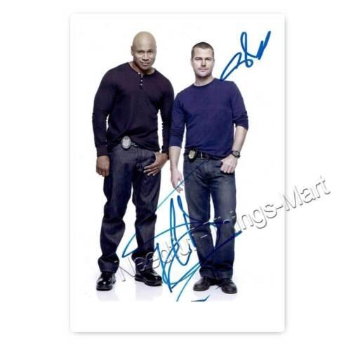 Autogrammfotokarte laminiert AK2 Chris O/'Donnell /& LL Cool J aus NCIS LA