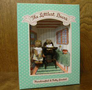 Littlest-Bears-by-Gund-7019-MOTHER-amp-BABY-2-75-034-amp-2-034-NEW-from-Retail-Store