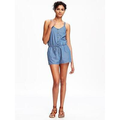 Old Navy Women's Chambray Romper Size L