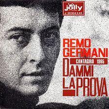 Remo Germani-Dammi La Prova 45 giri promozionale white label con presentazione v