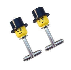 Lego Mini Figure TESTA CAPPELLO Gemelli sposo Best Man ASSISTENTE regalo, Uomo