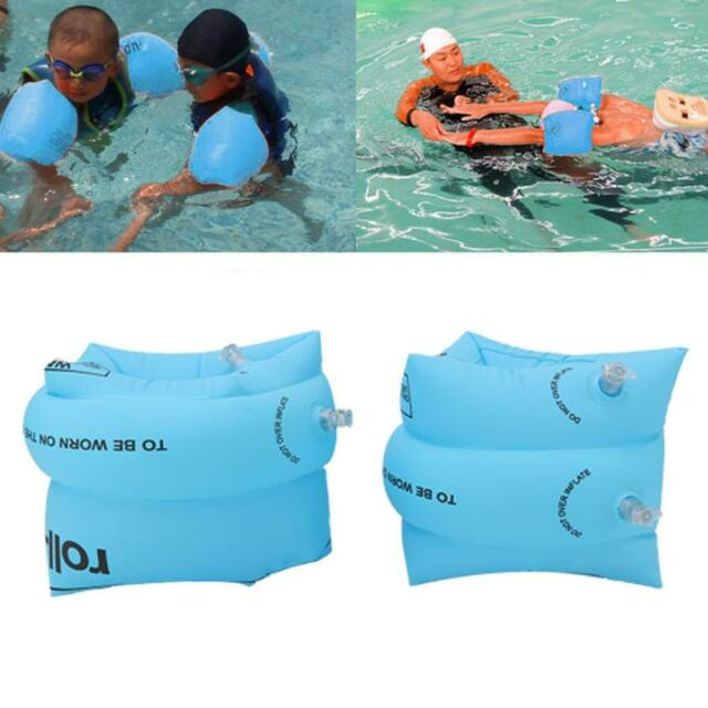 Adult Kid Safety Inflatable Swimming Aid Arm Band Ring Float Beach Pool Tool