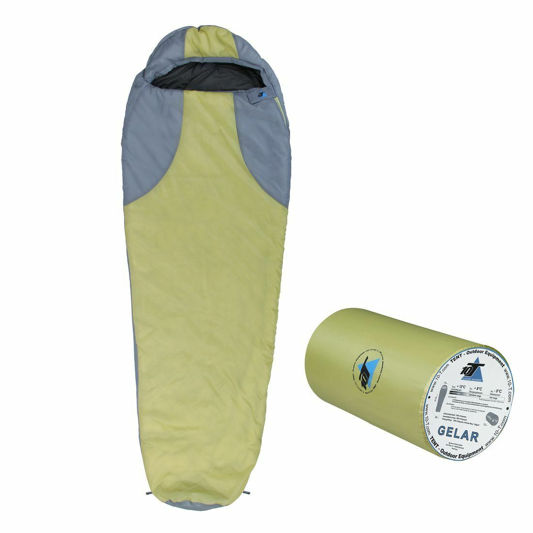 Gelar 210x75 cm Mummy sleeping bag -5° warm 1000g light green 150g m²