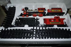 1999-Vintage-NEW-BRIGHT-Toy-BATTERY-OPERATED-Train-HUGE-BOX-WORKS