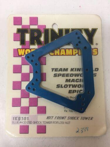 New TKO301 Trinity RC Vintage Team Losi NXT Shock Tower Anodized Blue