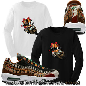 online retailer d09b2 1bf6c Details about atmos x Nike Air Max 95 Animal Pack 2.0 CUSTOM LONG SLEEVE T  SHIRT AM95 1-1-7-L