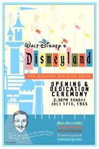 COLLECTOR POSTER 4 DIFFERENT SIZES B2G1 FREE!! DISNEYLAND MONORAIL AD