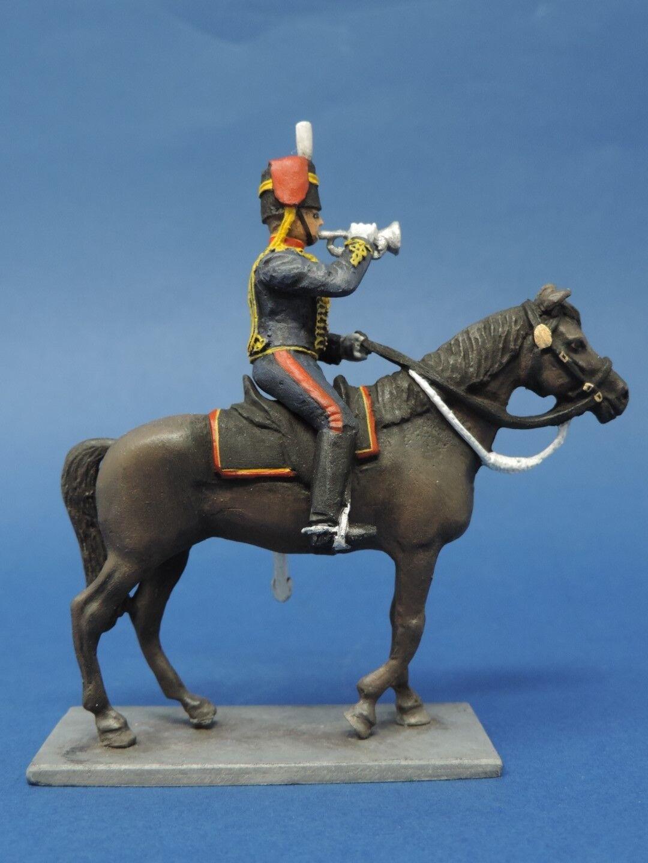 54mm Metal Toy Soldier - Mounted Royal Horse Artillery Bugler