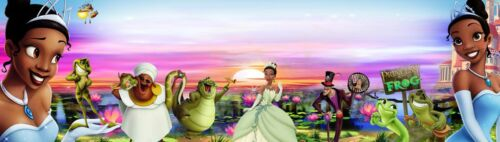 """POSTER //BANNER  30/""""X8.5/"""", TIANA PRINCESS  /& THE FROG ART PICTURE"""