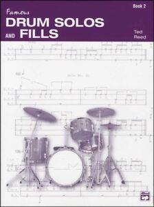 Célèbre Drum Solos Et Remplit 2 Sheet Music Book Ted Reed Progressive Batteur-afficher Le Titre D'origine Prix ModéRé