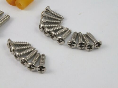 27 NICKEL SCREW SET USA Imperial Thread for 1960/'s STRATOCASTER STRAT guitar