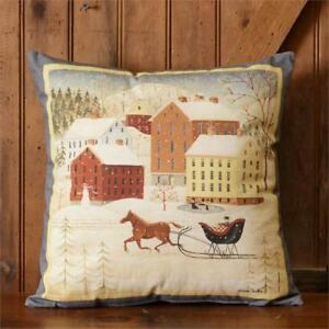Image Is Loading Primitive Country Christmas HORSE Amp SLEIGH 100 Cotton