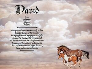 """Horses"" Name Meaning Print Personalized (Animals Nature)"