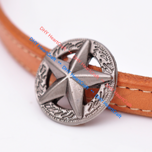 """Craft NEW 30 1 3//8/"""" Silver Star Conchos Slotted  Costumes"""