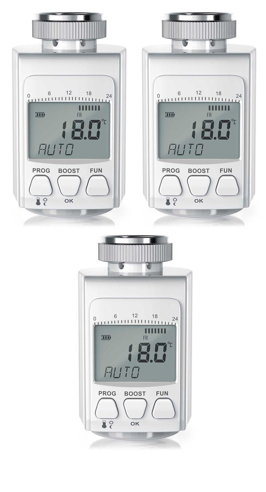 3x Bearware Komfort - Heizkörperthermostat | Energiespar-Regler| Thermostat /NEU