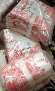 Image Is Loading Pottery Barn Matine Toile Duvet Cover Desert Rose