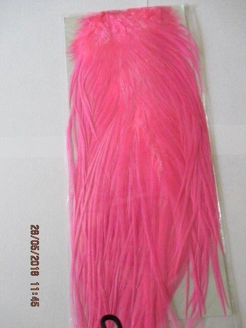 Metz saddle  bubble gum pink saddle grade 2  flytying hair feathers