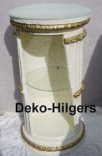 Vitrine Bar Amphore Vase mit Licht Säule Möbel Deko Wohnen Regal Crem Gold F2