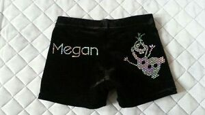 Gymnastics//Dance Frozen snowman Shorts Personalised with Any Name by Selani