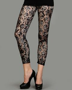 Womens Netted Leggings With Floral Print