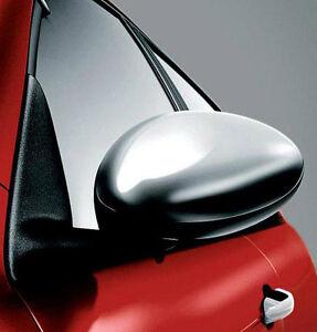 Pair-of-Alfa-Romeo-147-amp-GT-Brushed-Alloy-Mirror-Covers-Caps-New-amp-Genuine