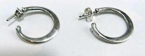 James Avery Retired Signed Sterling Silver Pierced Post Hoop Earrings Ebay