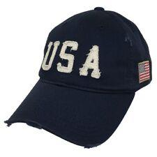 Navy Blue USA Flag Vintage America US American Distressed Baseball Cap Hat