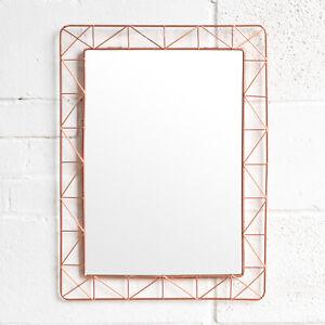 Large Rose Gold Copper 55cm Wall Mirror Bathroom Living Room Hallway Bedroom Ebay
