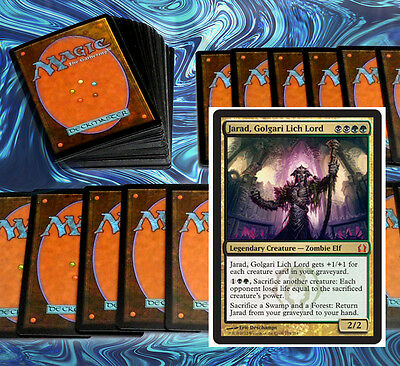 mtg BLACK GREEN GOLGARI COMMANDER EDH DECK Magic the Gathering 100 cards jarad