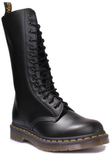 Dr Martens 1914 Smooth Unisex Leather Black High Lace Up Boots UK Size 3-12