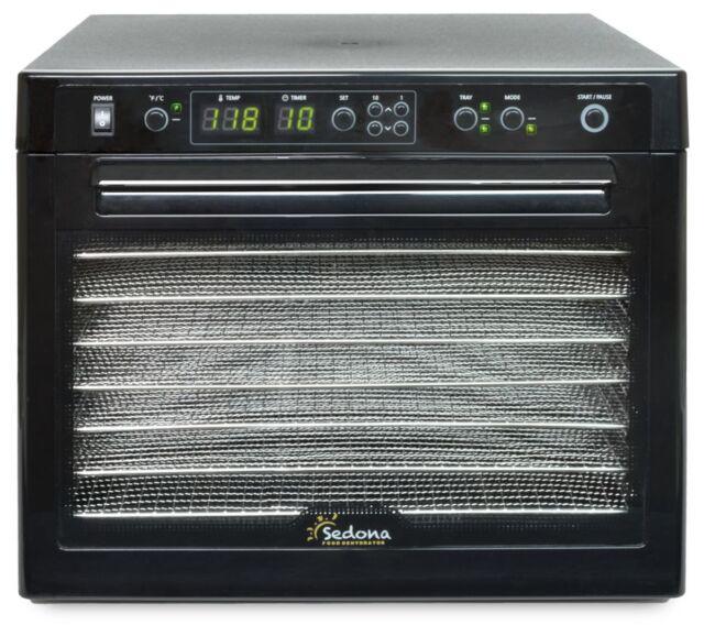Tribest Sedona Classic SD-S9000-B Rawfood Dehydrator with Stainless Steel Trays
