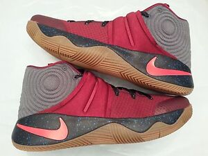 various colors 3c100 7bbc9 Image is loading Nike-Kyrie-2-ID-Red-Grey-Gum-Cavs-