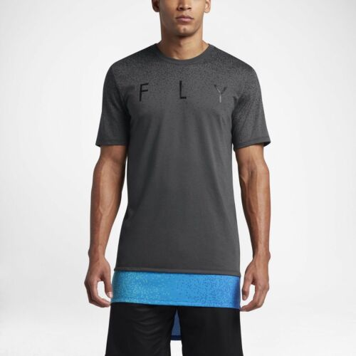 NEW NIKE FLY ASG DRI DRI-FIT EXTENDED T-SHIRT 894911 CHOOSE CHARCOAL OR WHITE