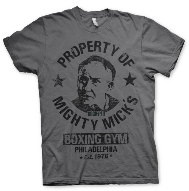 Rocky Property Of Mighty Mick/'s Boxing Club Adult T Shirt Classic Movie