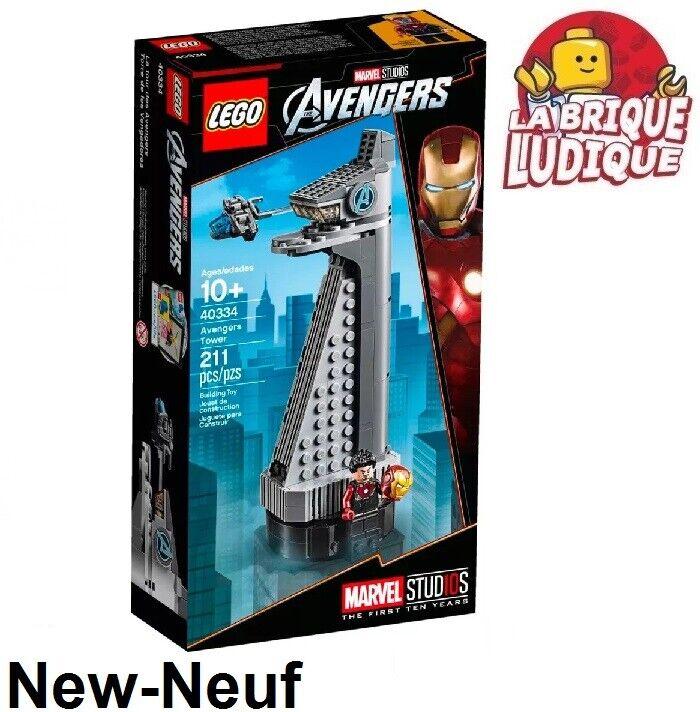 Lego  - boite scatola Marvel studios La Tour des Avengers Tower Tony estrellak 40334 NEUF  saldi