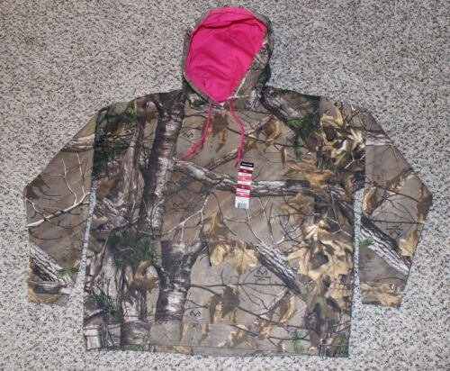 NEW Realtree Hoodie Camo Hooded Sweatshirt Pink Accents Womens Size S or M