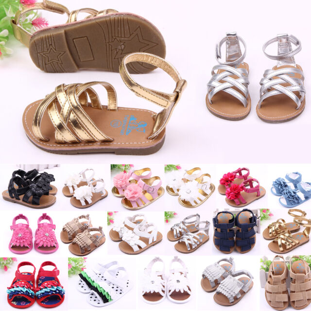 Cute Infant Baby Summer Sandals Toddler Girls Princess Soft Sole Shoes 3 Sizes