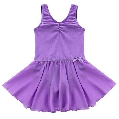 Toddler Girls Ballet Dress Kids Gymnastics Dance Dress Leotard Tutu Dancewear