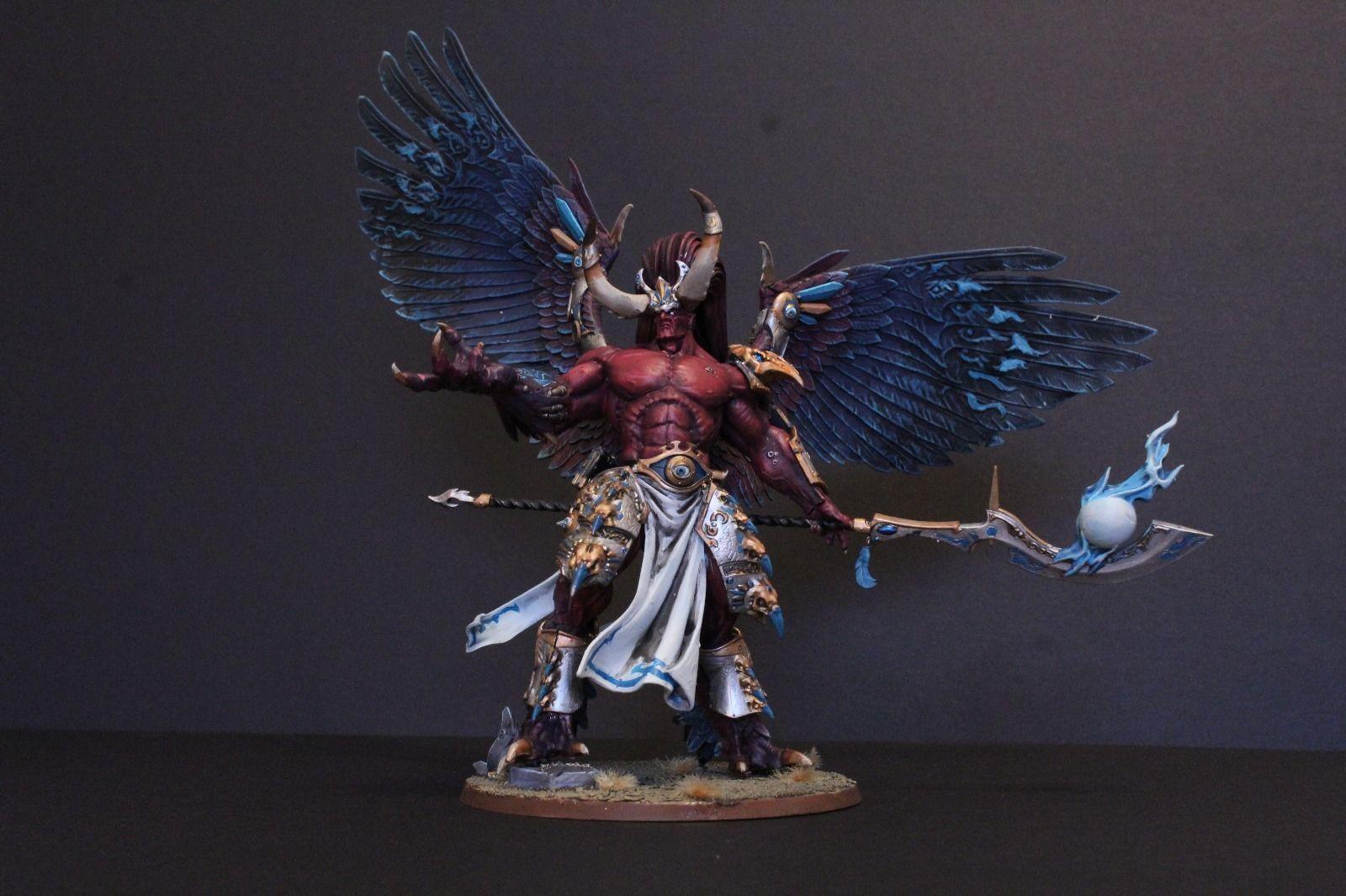 Pro Pintado Primarch Magnus el demonio caos Rojo, hecho a pedido mil hijos