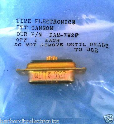 DAM-7W2P ITT CANNON DSUB 7W2 M SOD G 5 PIN Signal/2Cavity POS Solder Pot ST Pan