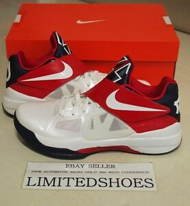 competitive price 8aecb 1350f Image is loading NIKE-KD-IV-4-USA-OLYMPIC-473679-103-
