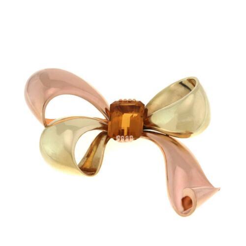 Retro Tiffany & Co. Citrine 18k Pink & Yellow Gold