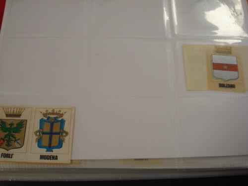 ITALIA PATRIA NOSTRA 1968 PANINI STEMMA SCUDETTO NUOVO CON VELINA ORIGINALE