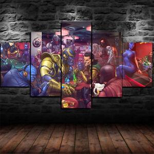 Details about Framed Marvel Villains Loki Thanos 5 Piece Canvas Print Wall  Art Home Decor