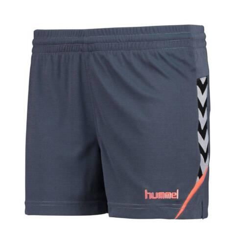 Hummel Authentic Charge Womens Poly Shorts grau orange Damen NEU 78250