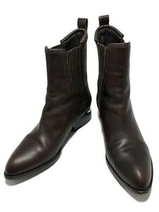 ALEXANDER-WANG-039-ANOUK-039-BROWN-LEATHER-BOOTS-37-795