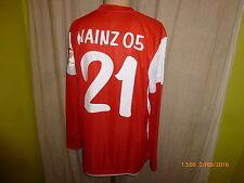 """Fsv Mainz 05 nike manga larga junior matchworn camiseta 2011/12 """"urano"""" + nº 21 talla XL"""