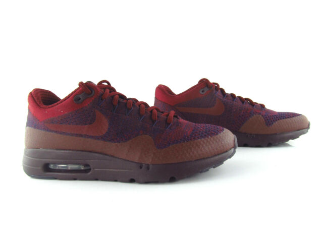 Nike Air Max 1 Ultra Flyknit Burgundy Red 90 OG UK_7.5 US_8.5 Eu 42.5