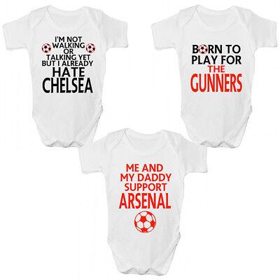Generoso Funny Arsenal Fc Baby Grow/story-divertente I Mitraglieri Bambini Clothing-